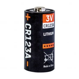 Batteria in litio 3V, 1300 mAh CR123A