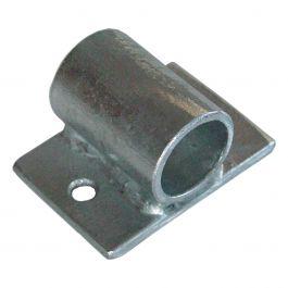 Fijación de tubo galvanizada con anclaje pequeño