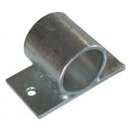 Fijación de tubo galvanizada con anclaje grande
