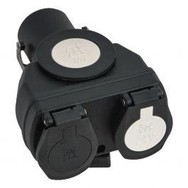 Kurzadapter 15-pol auf 2 x 7-pol