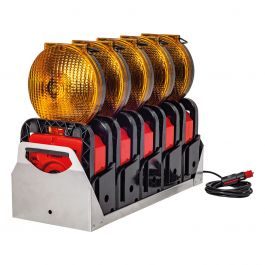 Geleidingsflitslampen, set van 5 stuks Euro-Blitz Compact LED Synchroon