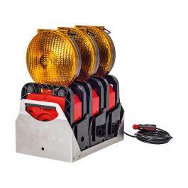 Geleidingsflitslampen, set van 3 stuks Euro-Blitz Compact LED Synchroon