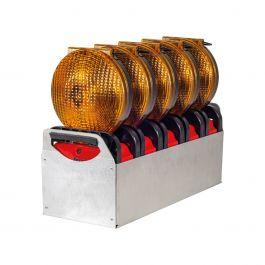 Geleidingsflitslampen, set van 5 stuks, Euro-Blitz Compact LED Synchroon