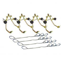 Wielhijsklemmen met 4 hijsbanden