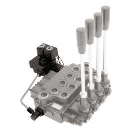 Sterowanie elektro-hydrauliczne dla podwójnej funkcji 24V, do DCV 40/50