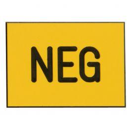 Plaatje, ingegraveerd NEG voor min-pool, zelfklevend