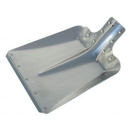Pala de metal ligero con bordes de acero