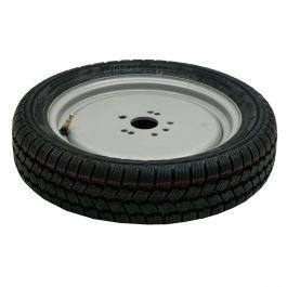 Nødhjul passer til hjuladapter for 4 og 5 hull, inkl. monteringsbeslag