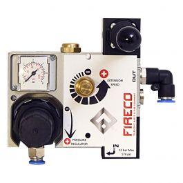 Styreenhet for trykkluft med manometer.